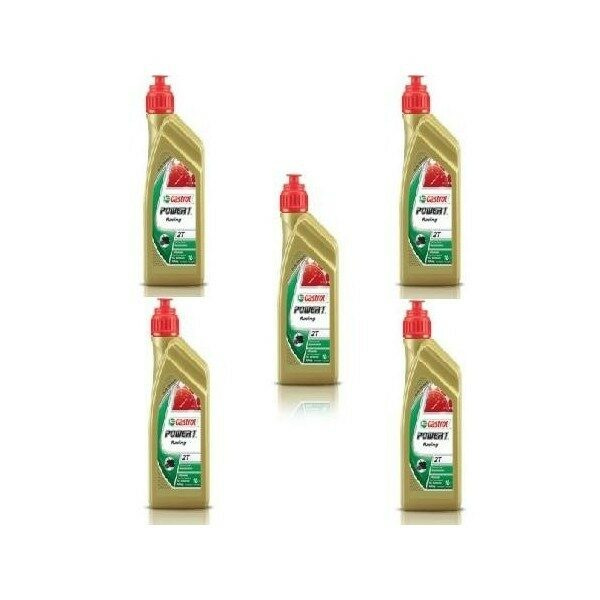 ACEITE CASTROL POWER 1 RACING 2T PACK 5 LITROS